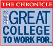 The Chronicle - 2016 Great College to Work For Award